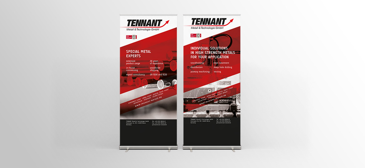 Roll-Up für Tennant Metall